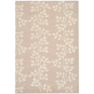 Safavieh Hand-knotted Tibetan Vines Multicolored Blush/ Ivory Wool/ Silk Rug (6' x 9')