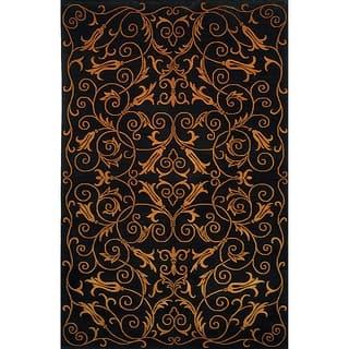 Safavieh Hand-knotted Tibetan Iron Scrolls Black Wool/ Silk Rug (9' x 12') https://ak1.ostkcdn.com/images/products/8292042/8292042/Safavieh-Hand-knotted-Tibetan-Iron-Scrolls-Black-Wool-Silk-Rug-9-x-12-P15611054.jpg?impolicy=medium