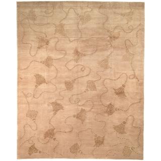 Safavieh Hand-knotted Tibetan Tassels Ivory Wool/ Silk Rug (10' x 14')