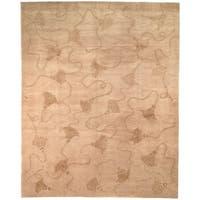 Safavieh Hand-knotted Tibetan Tassels Ivory Wool/ Silk Rug - 10' x 14'