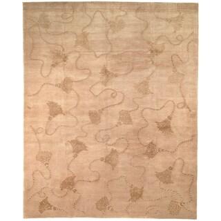 Safavieh Hand-knotted Tibetan Tassels Ivory Wool/ Silk Rug (8' x 10')