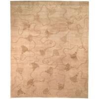 Safavieh Hand-knotted Tibetan Tassels Ivory Wool/ Silk Rug - 8' x 10'