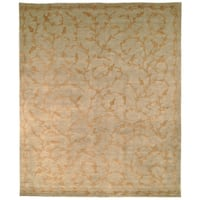 Safavieh Hand-knotted Tibetan Vines Green/ Gold Wool/ Silk Rug - 8' x 10'