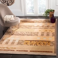 Safavieh Hand-knotted Tibetan Contemporary Beige Wool/ Silk Area Rug - 6' x 9'