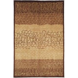 Safavieh Hand-knotted Tibetan Contemporary Beige Wool Rug (6' x 9')