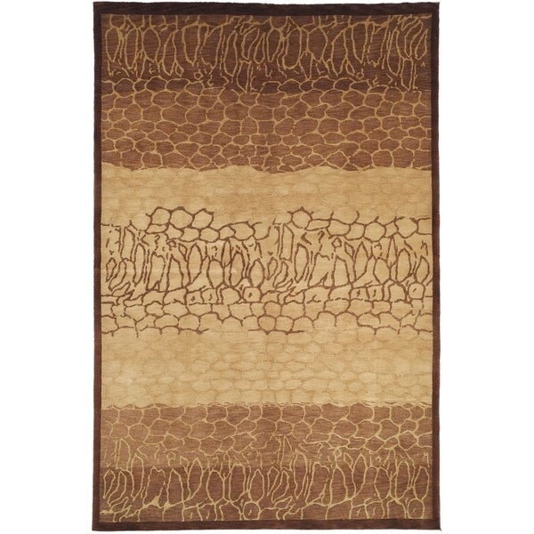 Safavieh Hand-knotted Tibetan Contemporary Beige Wool Rug (6' x 9')
