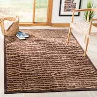 Safavieh Hand-knotted Tibetan Contemporary Brown/ Beige Wool Rug - 5' x 7'6