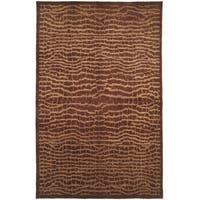 Safavieh Hand-knotted Tibetan Contemporary Brown/ Beige Wool Rug - 9' x 12'