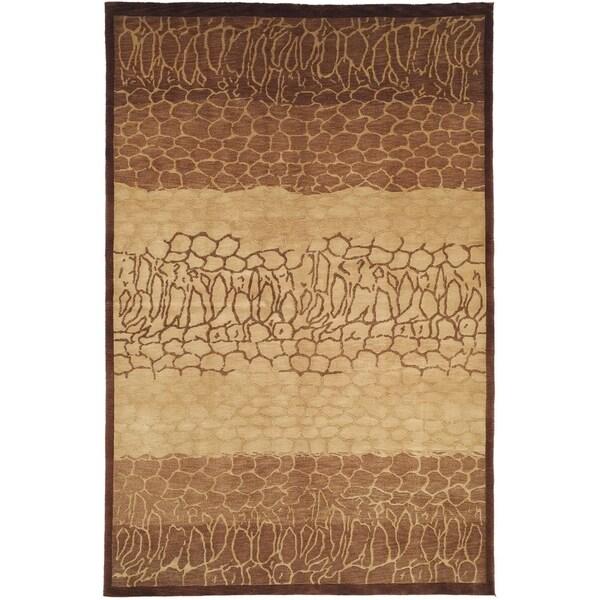 Safavieh Hand-knotted Tibetan Contemporary Beige Wool Rug - 9' x 12'