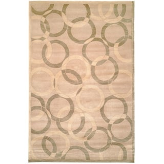 Safavieh Hand-knotted Tibetan Contemporary Geometric Multicolored Wool Rug (6' x 9')