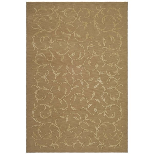 Safavieh Hand-knotted Tibetan Scrolling Vines Beige Wool/ Silk Area Rug - 8' x 10'