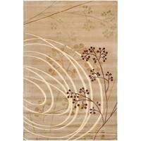 Safavieh Hand-knotted Tibetan Abstract Honey Wool/ Silk Rug - 9' x 12'