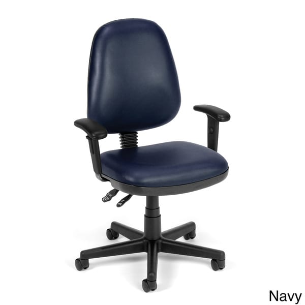 OFM 119-VAM-AA-604 Straton Series Anti-Microbial/Anti-Bacterial Vinyl Task Chair with Arms