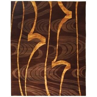 Safavieh Hand-knotted Tibetan Abstract Multi Wool/ Silk Rug (8' x 10')