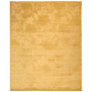 Safavieh Hand-knotted Tibetan Floral Cream Wool/ Silk Rug (8' x 10')