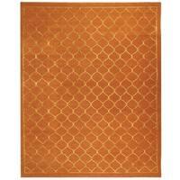 Safavieh Hand-knotted Tibetan Geometric Rust Wool/ Silk Rug - 8' x 10'