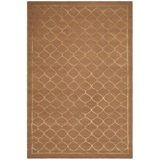 Safavieh Hand-knotted Tibetan Geometric Rust Wool/ Silk Rug (9' x 12')