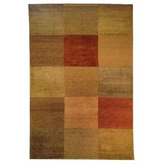 Safavieh Hand-knotted Tibetan Geometric Vegetable Dye Multicolored Wool Rug (6' x 9')