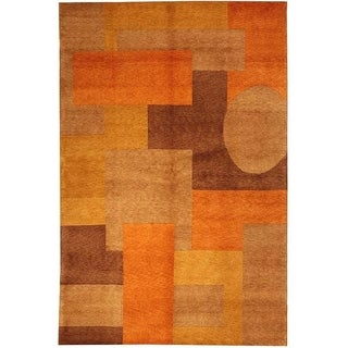Safavieh Hand-knotted Tibetan Modern Abstract Vegetable Dye Multicolored Wool Rug (8' x 10')
