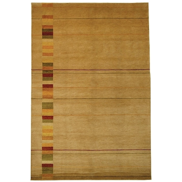 Safavieh Hand-knotted Tibetan Southwestern Abstract Vegetable Dye Beige Wool Rug - 10' x 14'