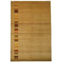 Safavieh Hand-knotted Tibetan Southwestern Abstract Vegetable Dye Beige Wool Rug - 6' x 9'