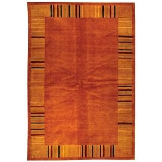 Safavieh Hand-knotted Tibetan Southwestern Vegetable Dye Rust Wool Rug (6' x 9')