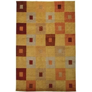 Safavieh Hand-knotted Tibetan Abstract Geometric Vegetable Dye Multicolored Wool Rug (9' x 12')
