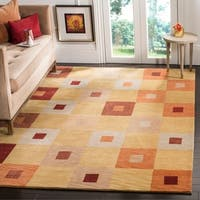 Safavieh Hand-knotted Tibetan Abstract Geometric Vegetable Dye Multicolored Wool Rug - 9' x 12'