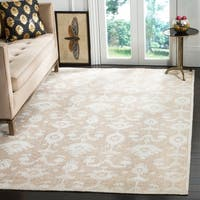 Safavieh Hand-knotted Tibetan Floral Linen/ Antique White Rug - 6' x 9'