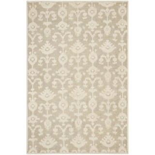 Safavieh Hand-knotted Tibetan Floral Linen/ Antique White Rug (9' x 12')