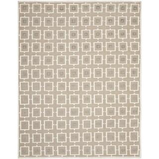 Safavieh Hand-knotted Tibetan Modern Geometric Buckwheat/ Antique White Linen Rug (9' x 12')