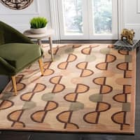 Safavieh Hand-knotted Tibetan Contemporary Beige/ Rust Wool Rug - 10' x 14'