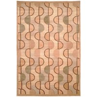 Safavieh Hand-knotted Tibetan Contemporary Beige/ Rust Wool Rug - 9' x 12'
