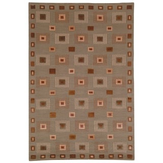 Safavieh Hand-knotted Tibetan Geometric Green Wool Rug (9' x 12')