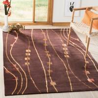 Safavieh Hand-knotted Tibetan Chocolate Wool/ Silk Rug - 5' x 7'6