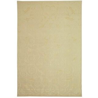 Safavieh Hand-knotted Tibetan Iron Scrolls Pearl Cashmere/ Silk Rug - 6' x 9'