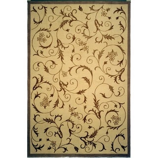Safavieh Hand-knotted Tibetan Scrolling Vines Multicolored Wool/ Silk Rug (5' x 7'6)