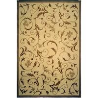 Safavieh Hand-knotted Tibetan Scrolling Vines Multicolored Wool/ Silk Rug - 6' x 9'