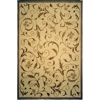 Safavieh Hand-knotted Tibetan Scrolling Vines Multicolored Wool/ Silk Rug (9' x 12')
