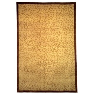 Safavieh Hand-knotted Tibetan Gold Wool/ Silk Area Rug (8' x 10')