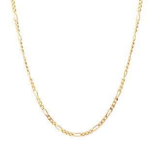 Sterling Essentials 14k Gold over Silver 1.5 mm Figaro Chain (16-24 Inch)