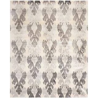 Safavieh Hand-knotted Tibetan Modern Pearl/ Grey Wool/ Viscose Rug (8' x 10')