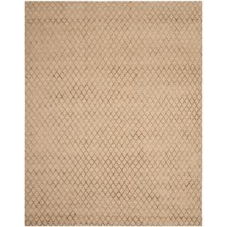 Safavieh Hand-knotted Tibetan Geometric Beige Wool/ Viscose Rug (8' x 10')
