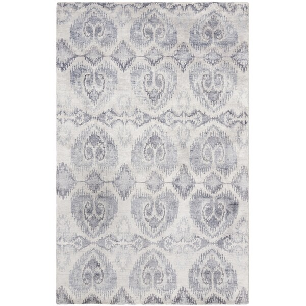 Safavieh Hand-knotted Tibetan Lavender Wool/ Viscose Rug - 8' x 10'