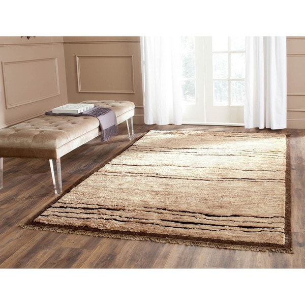 Safavieh Hand-knotted Tangier Brown Wool/ Jute Rug - 8' x 10'