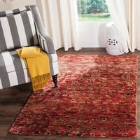 Safavieh Hand-knotted Tangier Red Wool/ Jute Rug - 5' x 8'