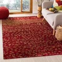 Safavieh Hand-knotted Tangier Red Wool/ Jute Rug - 8' x 10'