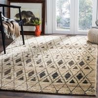 Safavieh Hand-knotted Tangier Ivory/ Black Wool/ Jute Rug - 4' x 6'