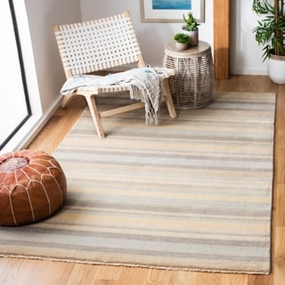 Safavieh Couture Hand-knotted Tibetan Yvetta Modern Wool Rug with Fringe