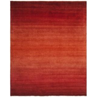 Safavieh Hand-knotted Tibetan Rust Wool Rug (9' x 12')